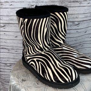 Zebra UGG Boots Size 8